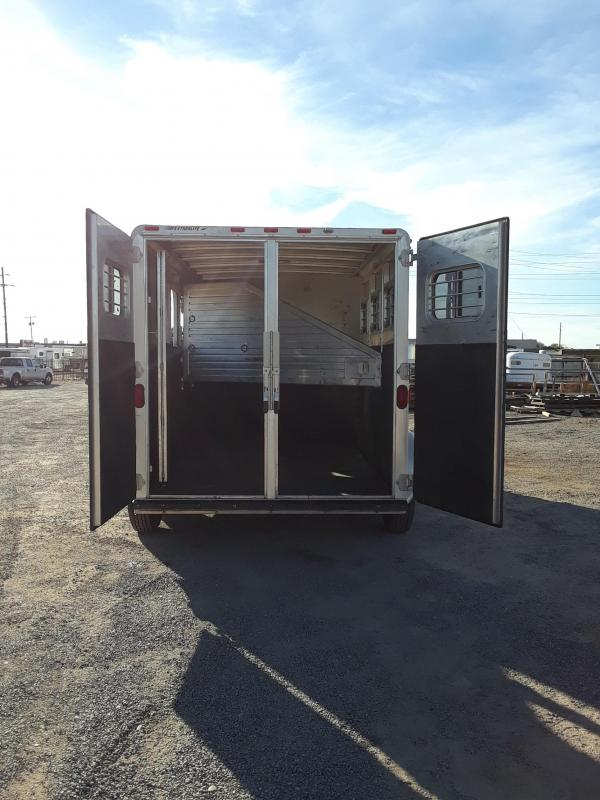 1998 FEATHERLITE 8544 3H GN HORSE TRAILER