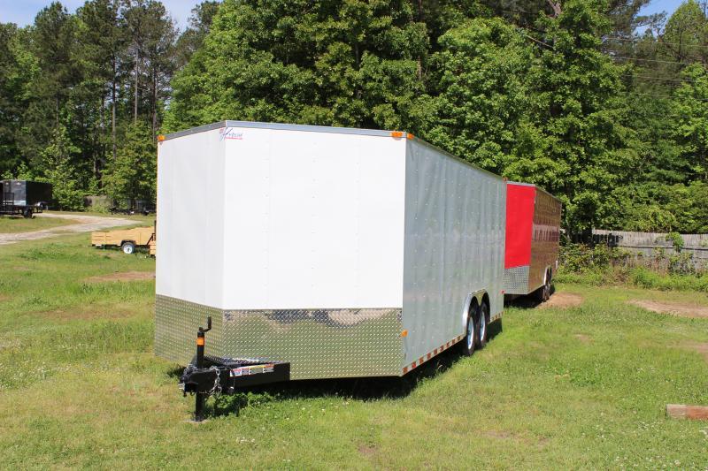 2016 Other Horton Hybrid 8.5 x 20 White Vnose Cargo Trailer Cargo / Enclosed Trailer