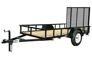 CARRY-ON 5X14 GWHS  flatbed utility trailer with high sides