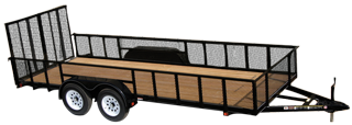 CARRY-ON 6X16 GWHS2BRK flatbed utility trailer