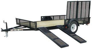 CARRY-ON 7X12 GWRS utility trailer with rear and side ramps
