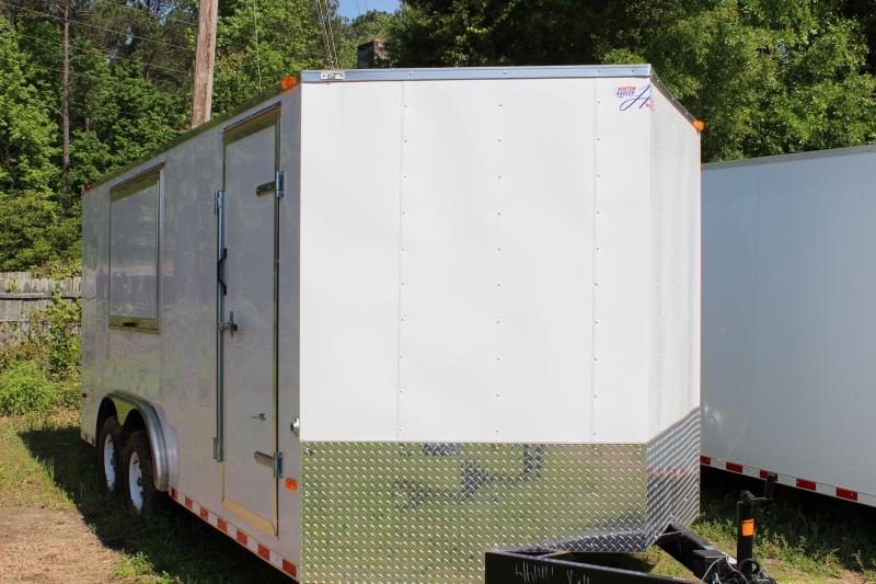 2016 Other Horton Hybrid 8x16 White Vnose Cargo / Enclosed Trailer