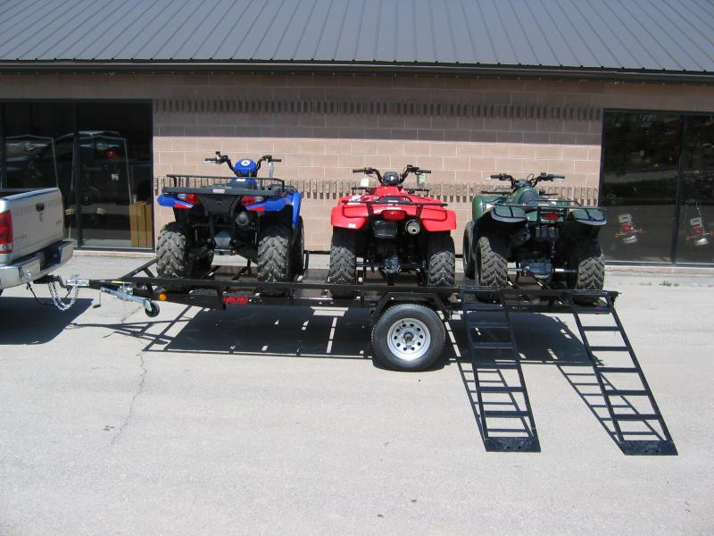 Echo VOYAGER EE14-14 14.5x6 flatbed three place atv trailer