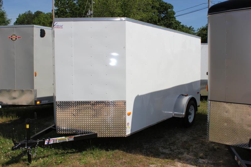 2016 Other Horton Hybrid 6x12 White Vnose Trailer Cargo / Enclosed Trailer