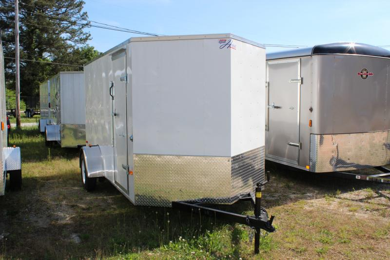 2016 Other Horton Hybrid 6x12 White Vnose Trailer Cargo / Enclosed Trailer