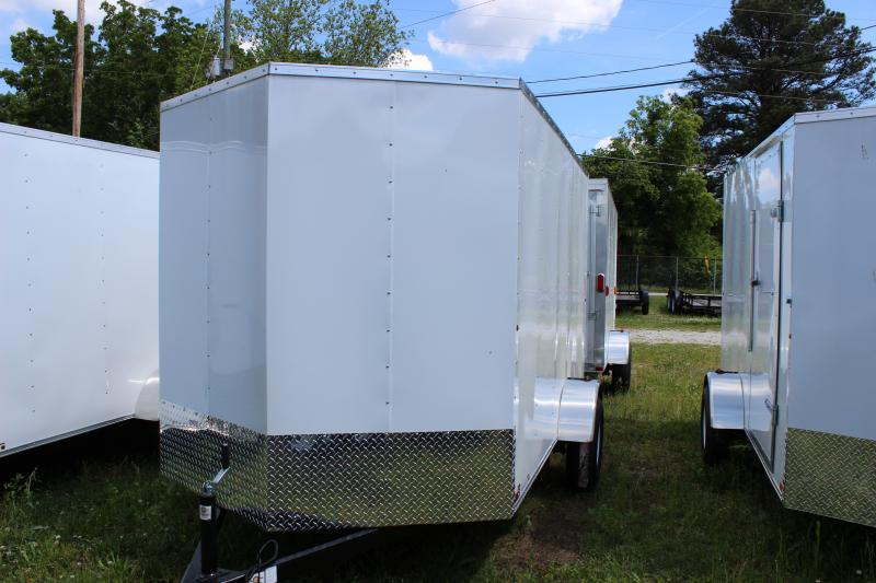 2016 Carry-On 6x12 White Carry-On Vnose Cargo Trailer Cargo / Enclosed Trailer