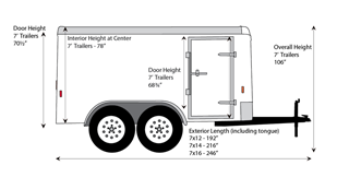 CARRY-ON 7X14 CGR-OPT Enclosed Cargo Trailer