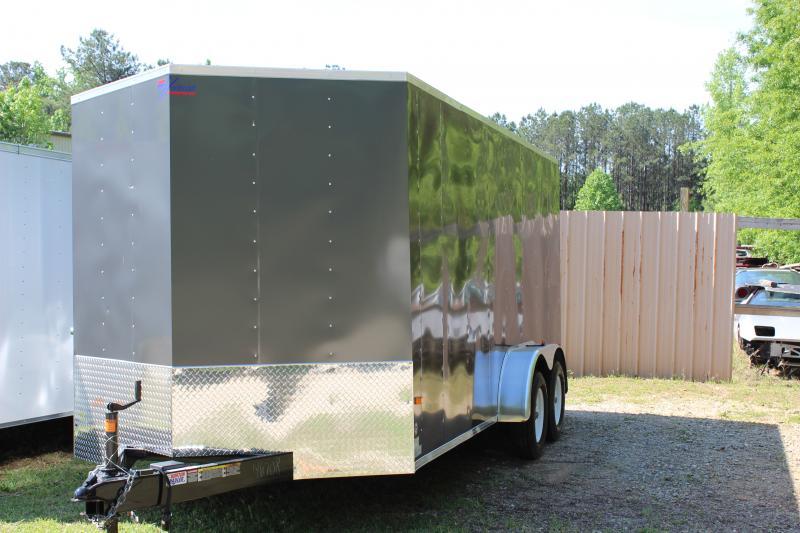 2016 Other Gray Horton Hybrid 7x16 Vnose Cargo Trailer Cargo / Enclosed Trailer
