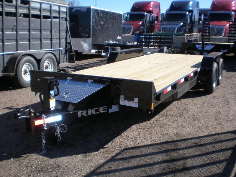 2017 Rice 7X20 10K Flatbed Equipment Trailer