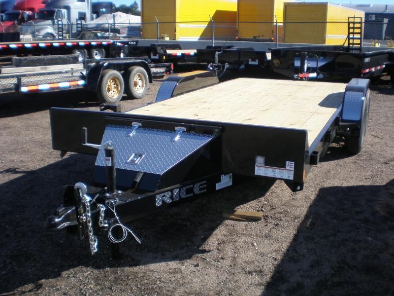 2017 Rice 7x18 Flatbed Car Hauler Trailer We Are The Trailer Pros