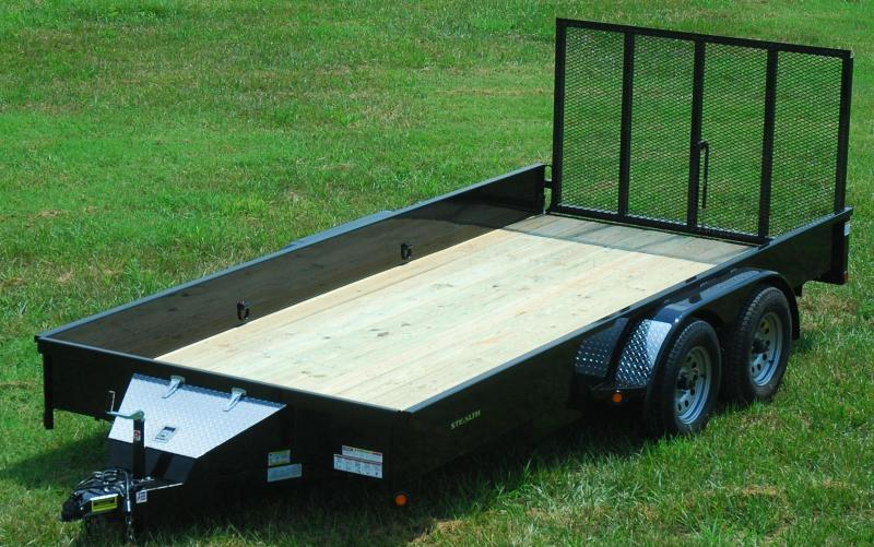 2016 rice  u0026quot stealth u0026quot  82x14 utility trailer