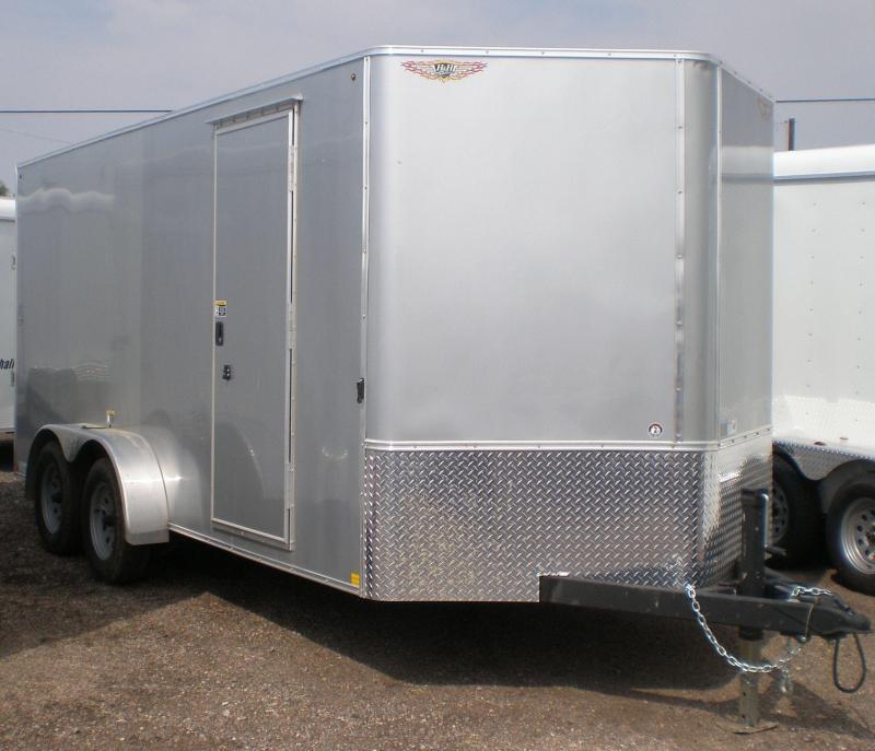 2017 H and H 7X16 Enclosed Cargo Trailer V-Nose