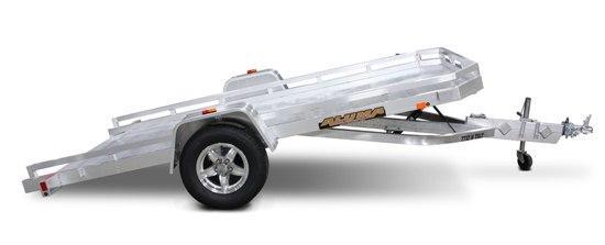 "Aluma 77"" x 12' Heavy Axle Aluminum Tilting Trailer"