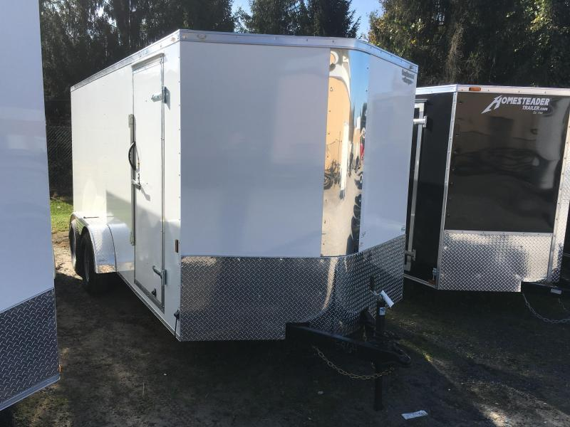 2017 Continental Cargo 7x16 vnose sd ramp door Enclosed Cargo Trailer