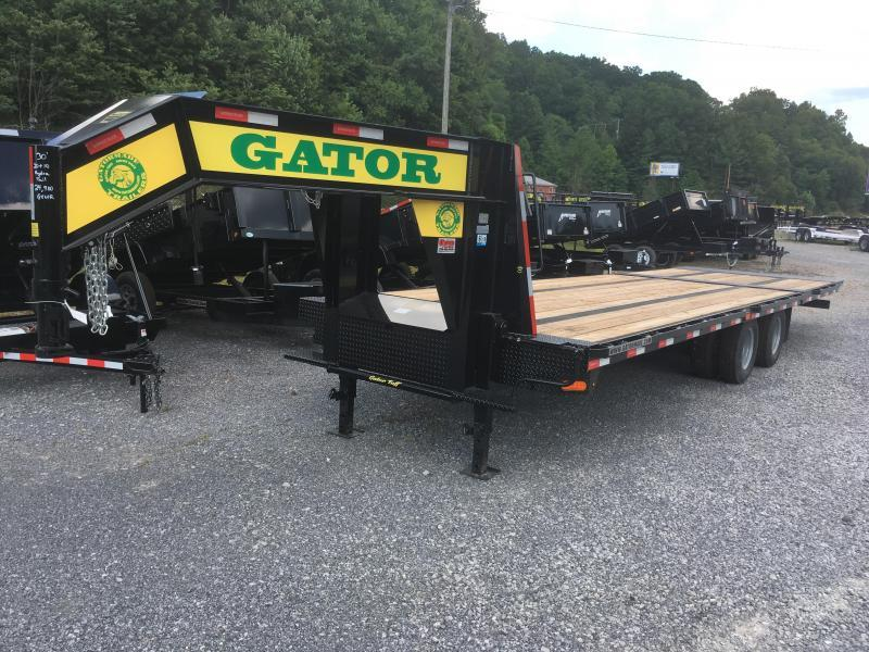 2018 Gatormade Trailers 30ft 20plus 10hydraulic dove tail tandem dual GN Equipment Trailer