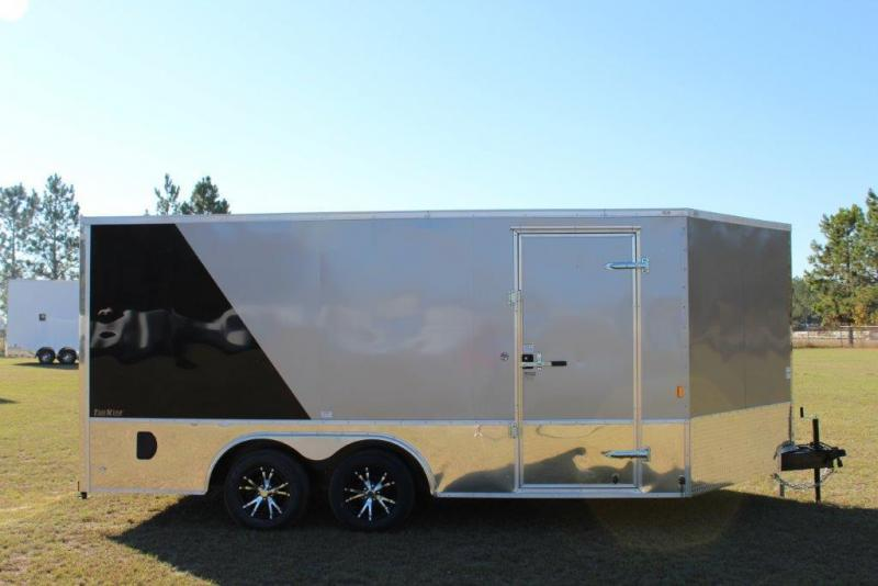 2017 Continental Cargo 8.5x16 Loaded Motorcycle Trailer Enclosed Cargo Trailer
