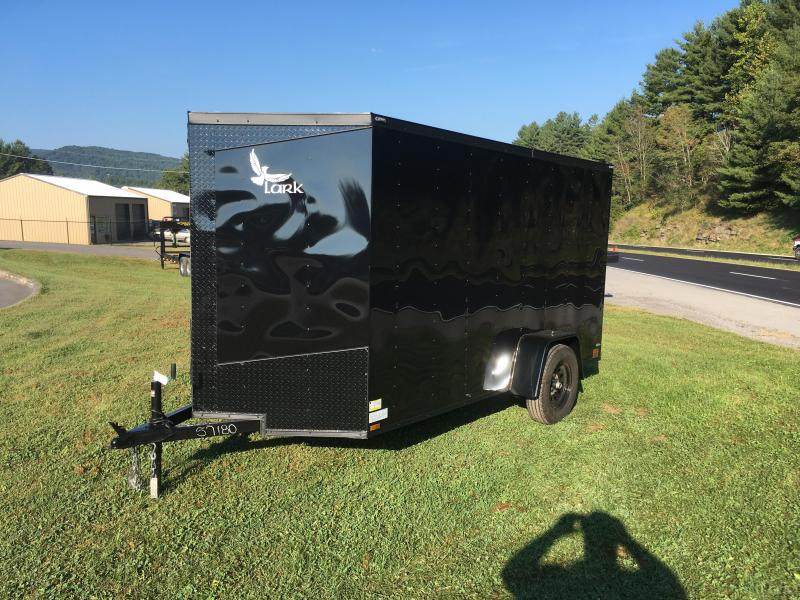 2017 Lark 6x12 v-nose ramp blk out Enclosed Cargo Trailer