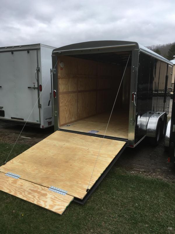2017 Carry-On 7x16 Round Top Ramp Door Enclosed Cargo ...