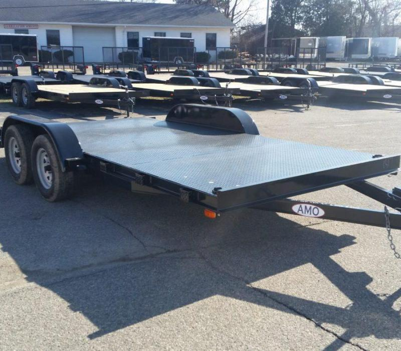 18ft Steel Deck Car Hauler w/ 1 Axle Brake