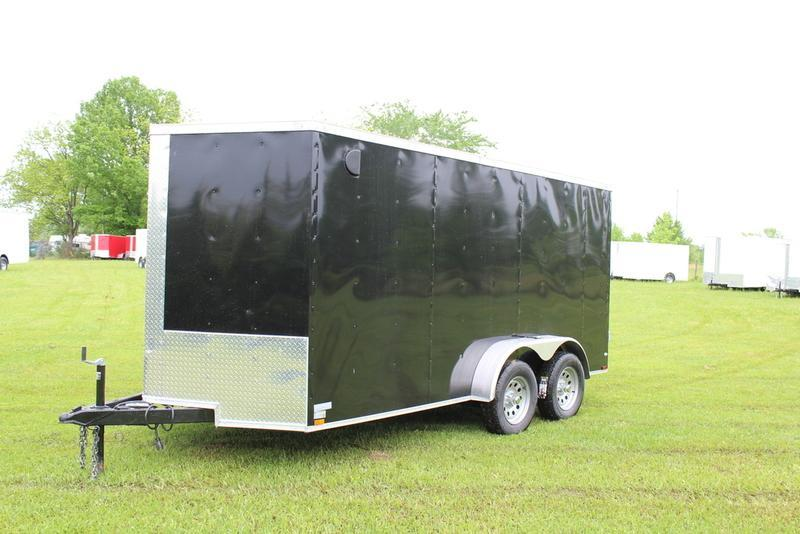 2017 Quality Cargo 7X14TA BLACK BARN DOOR