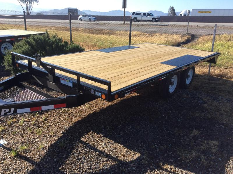 "2018 PJ Trailers 16' Light Duty Deckover 5"" Channel Trailer"