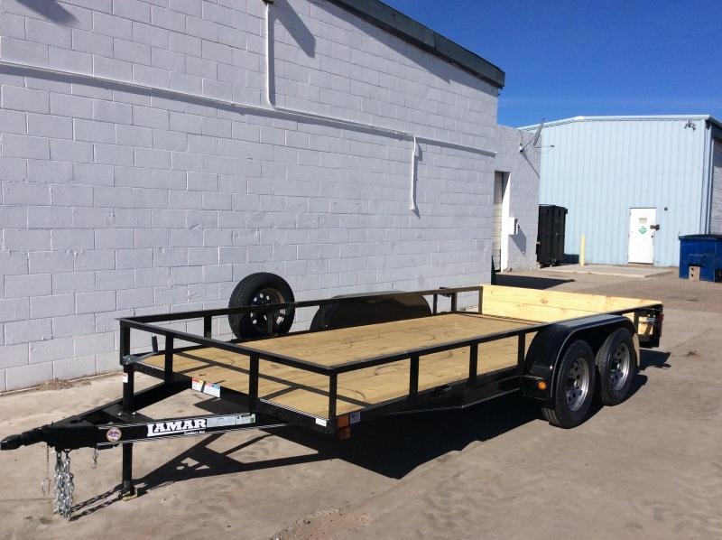 2018 Lamar 18FT UTILITY Flatbed Trailer