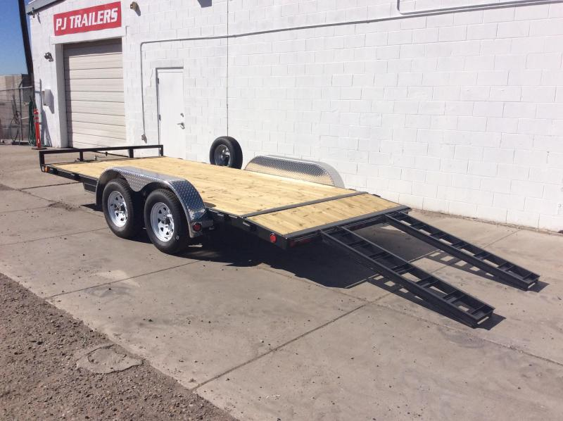 "2018 PJ Trailers 16' x 4"" Channel Carhauler Trailer"