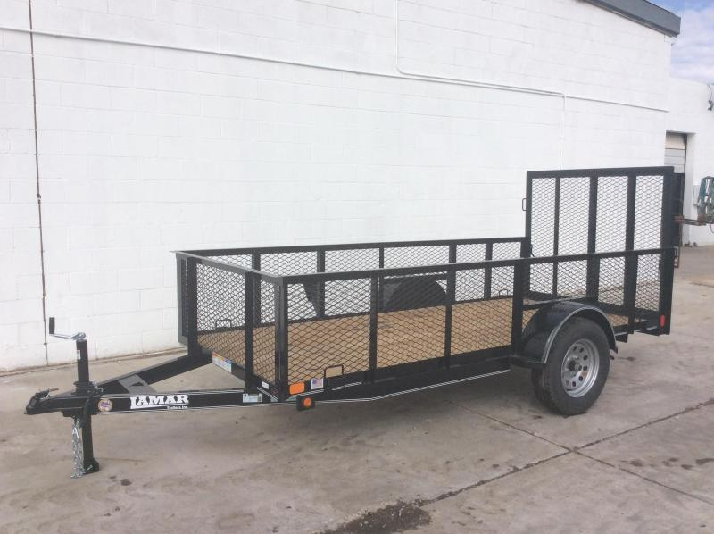 2018 Lamar Trailers 5X12 2FT SIDES Utility Trailer