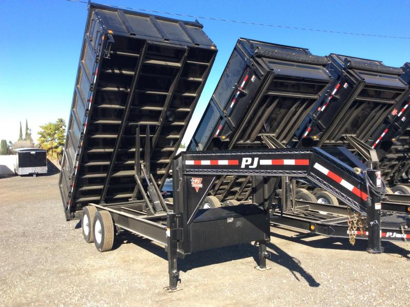 "2018 PJ Trailers 16' x 91"" Deckover Dump Trailer"