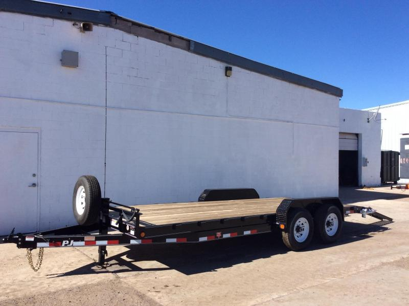 "2017 PJ Trailers 20' x 6"" Channel Equipment Trailer"