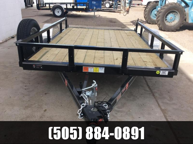 "2019 PJ Trailers 12' x 77"" Channel Utility Trailer"