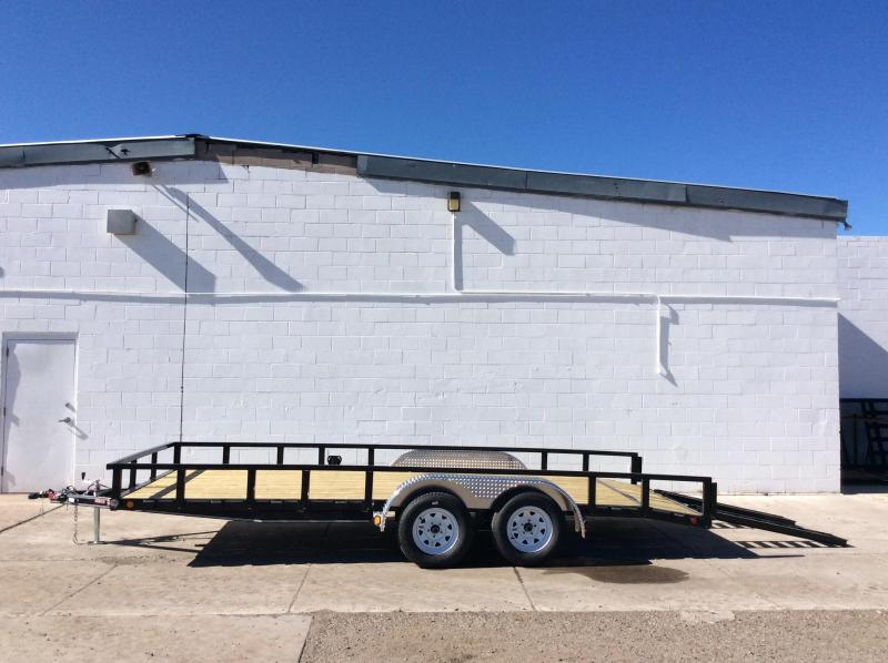 "2018 PJ Trailers 16' x 83"" Channel Utility Trailer"