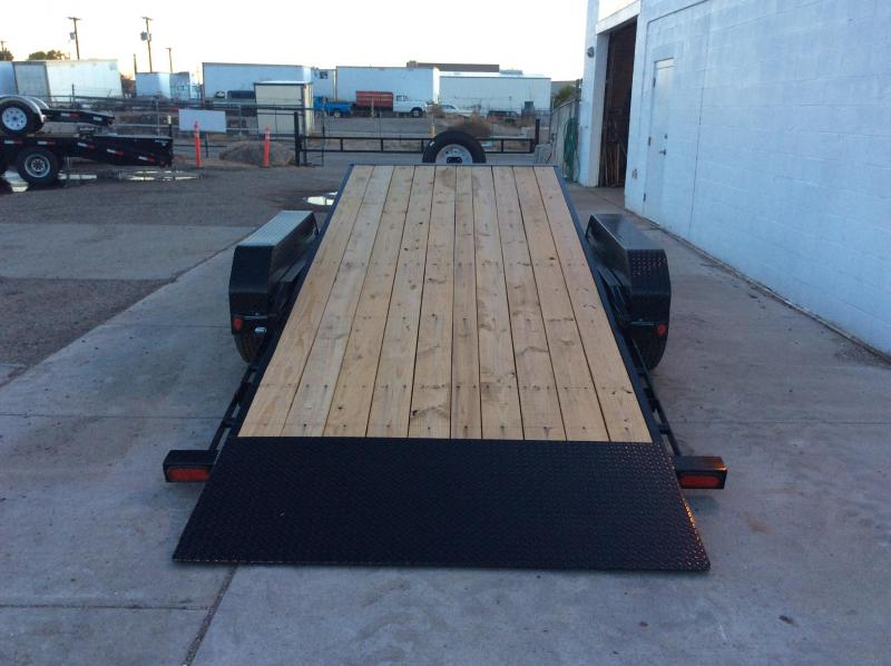 "2018 PJ Trailers 20' x 5"" Channel Tilt Carhauler Trailer"