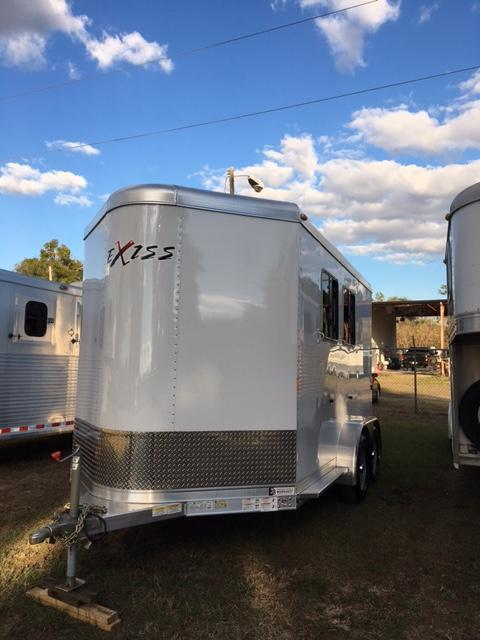 2016 Exiss Trailers 2 horse bumper pull w/ ramp and large dr Horse Trailer
