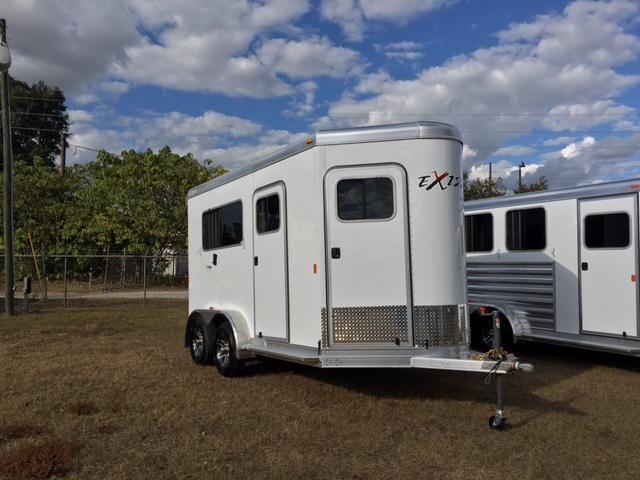 2017 Exiss Trailers 2 horse straight load bumper pull Horse Trailer