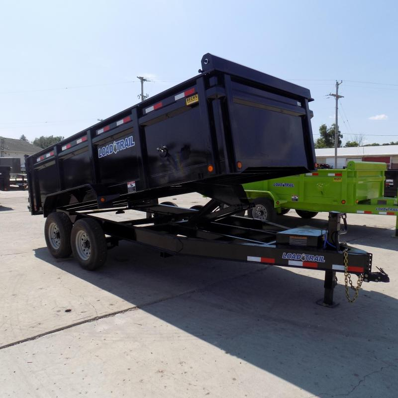 """New Load Trail 83"""" x 16' Dump Trailer For Sale - 36"""" Sides"""