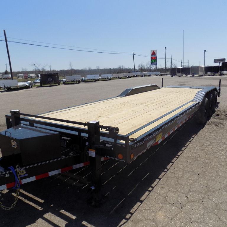 "New Load Trail 102"" x 28' Open Car Hauler - Triple Axle"