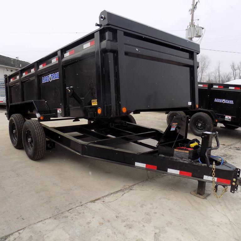 "New Load Trail 83"" x 14' Dump Trailer w/ 36"" Sides"