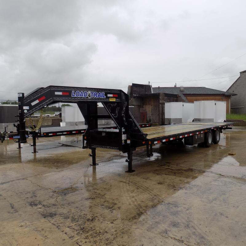 """New Load Trail 102"""" x 25' Equipment Trailer With Hydraulic Dove"""
