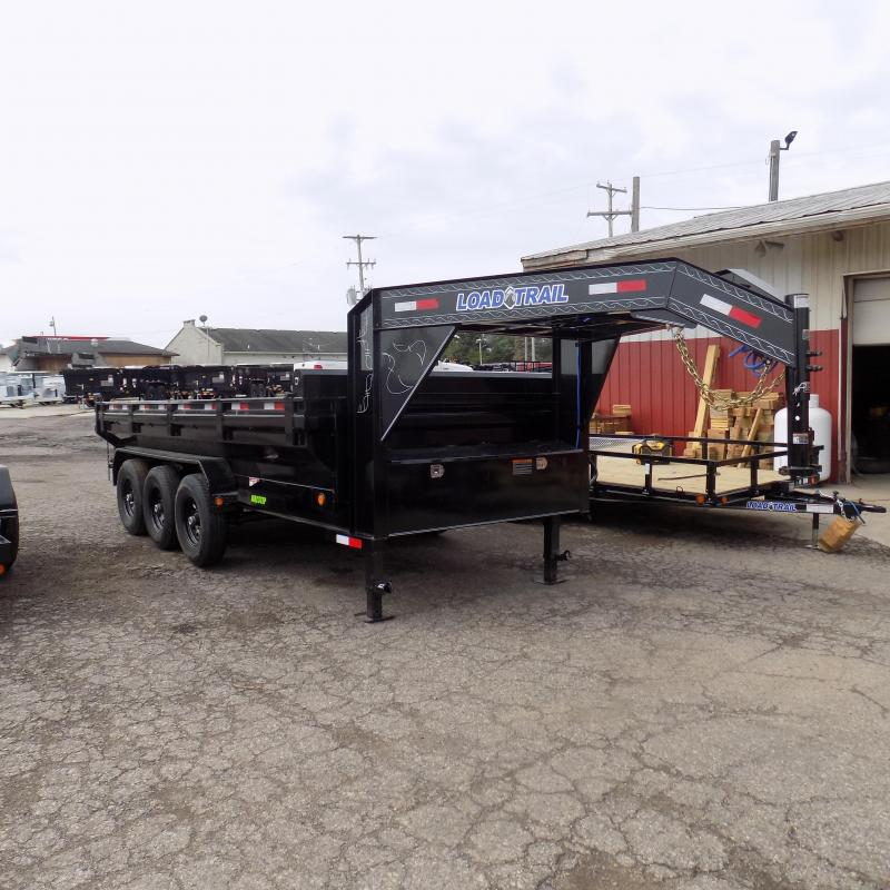 "New Load Trail 83"" X 16' Triple Torsion Axle Gooseneck Dump Trailer"