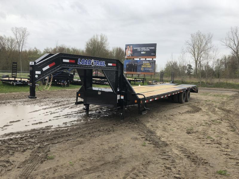 Load Trail 32 Low Profile Deckover 22K Gooseneck Equipment Flatbed Trailer