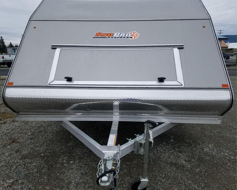 2018 Snopro Hybrid101x12 Snowmobile Trailer