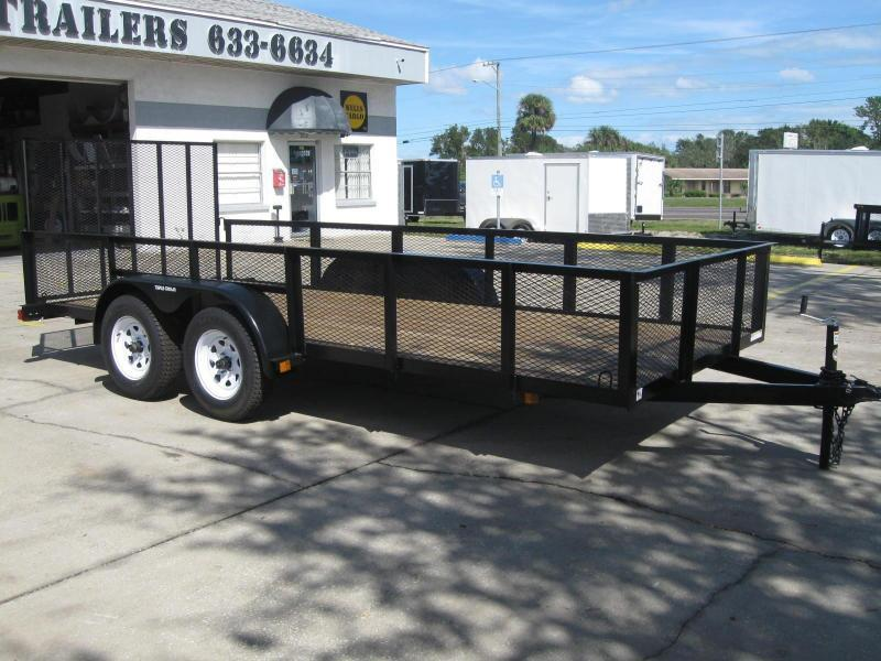 2017 Triple Crown Trailers 6.5x16 Utility Trailer 2' Mesh