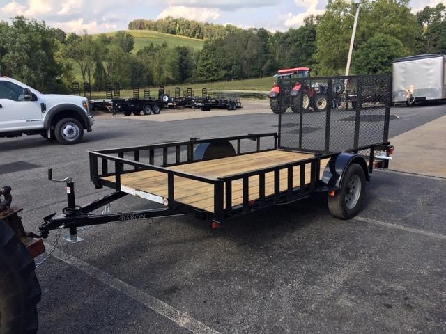 2020 Quality 6 x 12 Single Axle Landscape Trailer General Duty w/ 2 Side Ramps