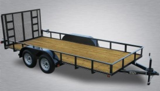"2020 Quality 77"" x 16 Tandem Axle Landscape Trailer Economy"