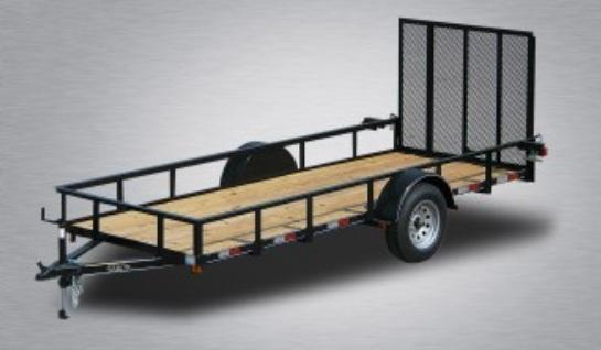 2019 Quality 6 x 14 Single Axle Landscape Trailer General Duty