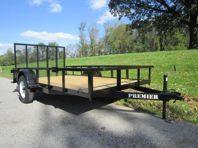 2019 Premier 6 x 12 Single Axle Landscape Trailer