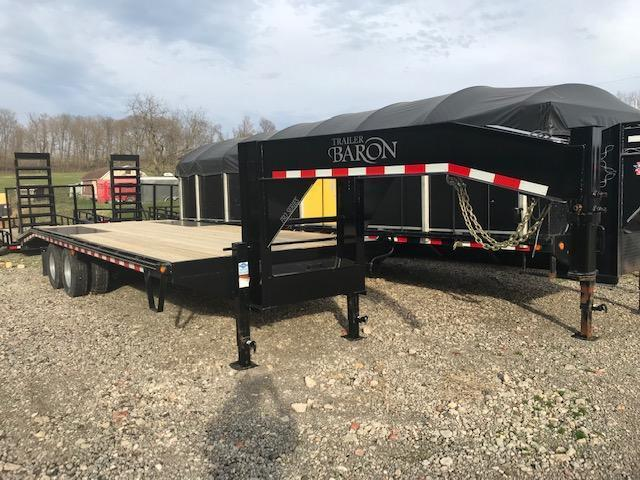 2020 Quality 25' Gooseneck (20' + 5' Dovetail) Professional Tandem Dually 25000# GVW w/ Pop-Up Tail