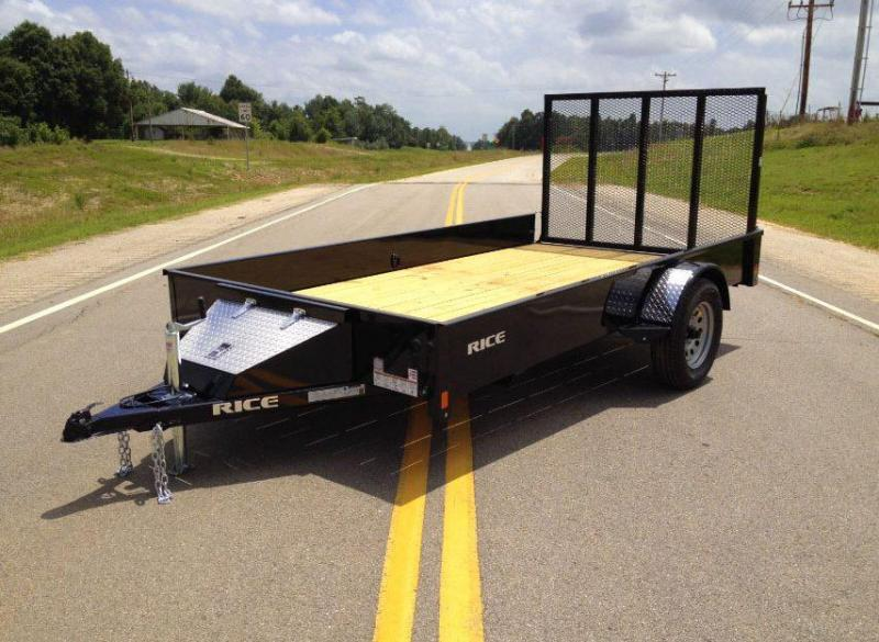 2018 Rice 6 x 10 Single Axle Solid Side Landscape Trailer