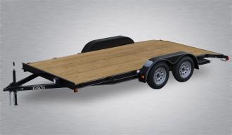 "2019 Quality Car Hauler  82"" X 16' 7000# GVWR Economy - Wood Deck"